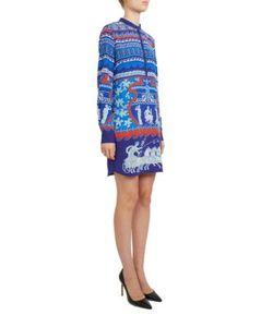 Mary Katrantzou | Hellas Roman-Print Silk Dress