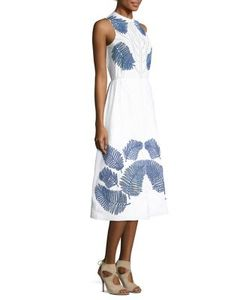Tanya Taylor | Palm Embroidered Delphine Eyelet Dress