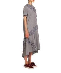 Cédric Charlier | Short Sleeve Herringbone Dress