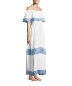 Anna Kosturova   Santorini Off-The-Shoulder Dress