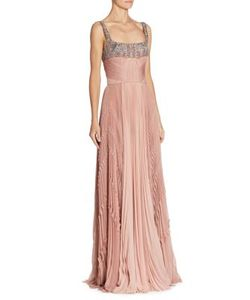 J. Mendel | Embroidered Silk Gown