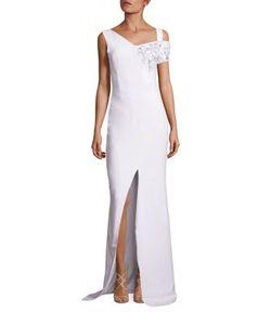 Antonio Berardi | Embroide Cut-Out Shoulder Gown