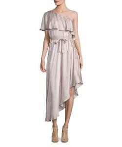 Zimmermann   Sueded One Shoulder Silk Dress