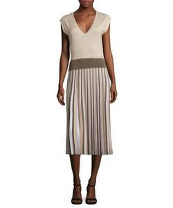 Agnona | Wool Pleated Dress