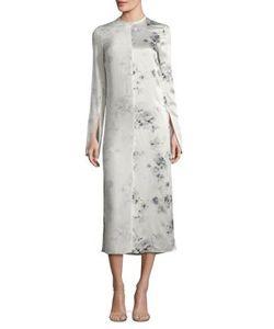 Calvin Klein Collection | Larrewprint Silk Midi Dress