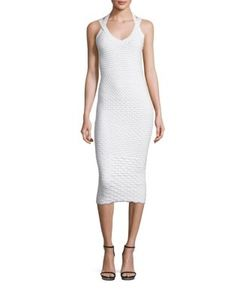 Michael Kors Collection | Patterned Stretch Dress