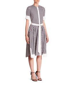 Thom Browne | Short Sleeve Gingham Shirtdress