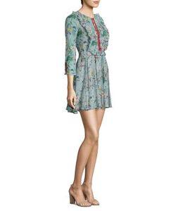 The Kooples | -Print Ruffled Silk Dress
