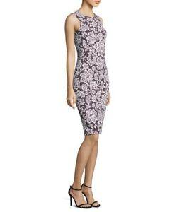 Michael Kors Collection | Lace Crewneck Sheath Dress