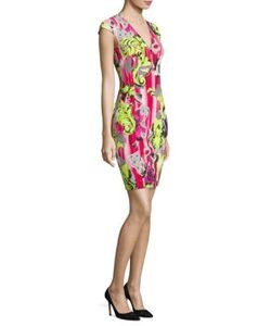 Versace Collection | Printed Cap Sleeve Dress