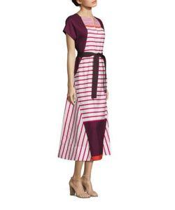 Piazza Sempione | Striped Cotton Dress