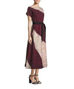 Piazza Sempione | Cotton Colorblock Dress