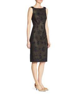 Prada | Silk Jacquard Cross V-Back Sheath Dress