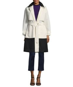 Piazza Sempione | Wool Colorblock Trench Coat