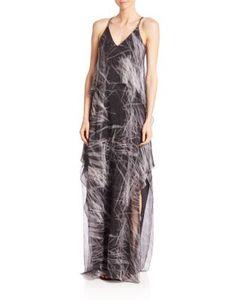 Halston Heritage | Printed Slit Gown