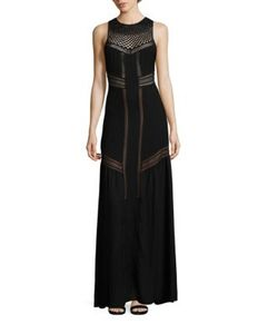 A.L.C. | Isbert Sheer-Inset Silk Maxi Dress
