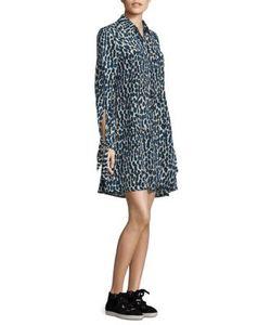 Derek Lam | Silk Leopard Shirtdress