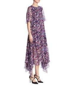 Prabal Gurung   -Print Silk Crewneck Dress