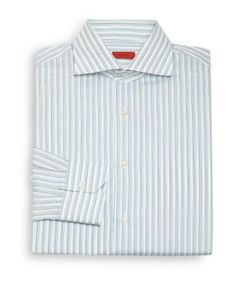 Isaia | Regular-Fit Striped Cotton Dress Shirt