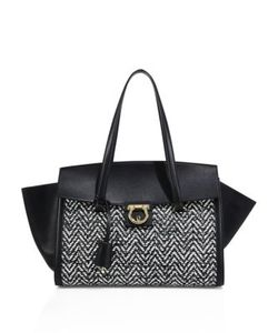 Salvatore Ferragamo | Woven Chevron Leather Tote