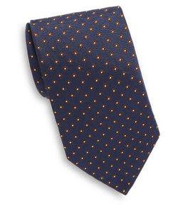 Corneliani   Embroidered Geometric Silk Tie