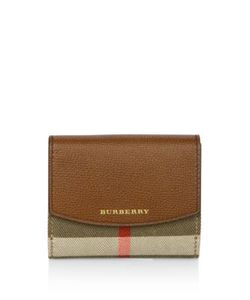Burberry | Luna House Check Derby Leather French Wallet
