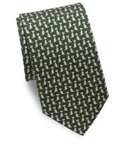 Salvatore Ferragamo | Scotty Dog Silk Tie