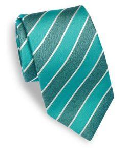 Isaia | Diagonal Striped Silk Tie