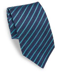 Isaia | Striped Silk Tie