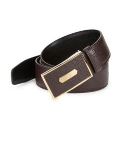 Dunhill | Textured Leather Belt