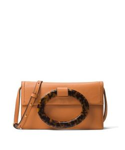 Michael Kors Collection | Baxter Ring Leather Clutch