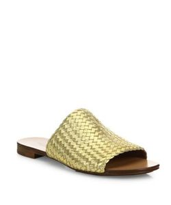 Michael Kors Collection | Byrne Woven Leather Slides