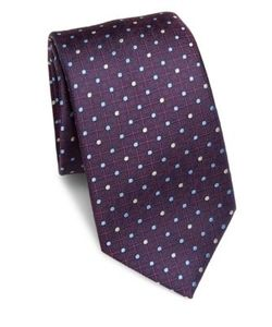Saks Fifth Avenue Collection | Connecting Dot Print Silk Tie