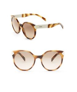 Prada | 55mm Geometric Sunglasses