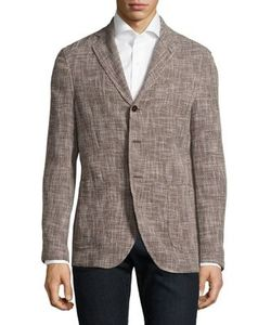 Isaia | Slim-Fit Slub Basketweave Wool Unconstructed Sportcoat