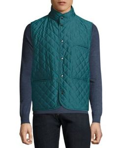 Isaia | Reversible Quilted Leather Vest