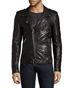 Blk Dnm | Leather Moto Jacket