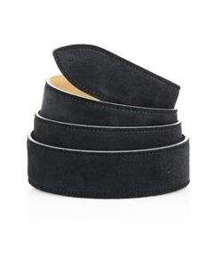 Corthay   French Calf Suede Leather Belt