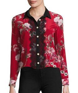 The Kooples | Moulin Rouge Printed Silk Shirt