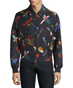 Salvatore Ferragamo | Bird-Printed Silk-Blend Jacket