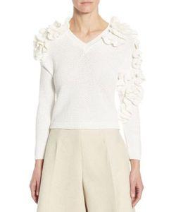 Delpozo | Knit Ruffle Sweater