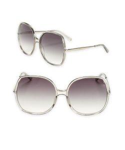 Chloe | Turtledove 62mm Oversize Round Sunglasses