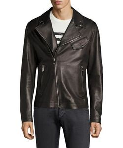 Versace Collection | Eyelet Leather Bomber Jacket