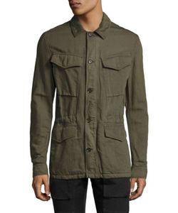 Belstaff   Weymouth Cotton Linen Military Jacket