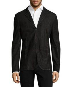 John Varvatos | Slim Fit Leather Jacket