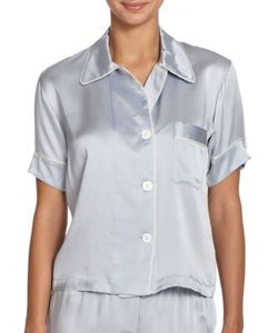 Araks | Shelby Silk Short-Sleeve Pajama Top