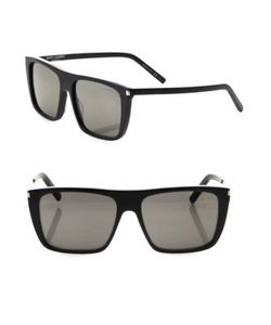 Saint Laurent | 56mm Flat-Top Sunglasses