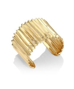 Alexis Bittar | Elements Crystal-Studded Pleated Cuff