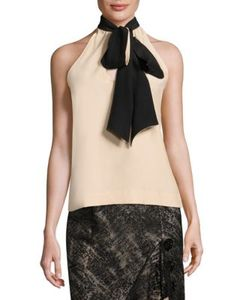 Prabal Gurung | Silk Tie Neck Top