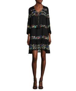 Derek Lam 10 Crosby   Embroide Silk Ruffle Dress